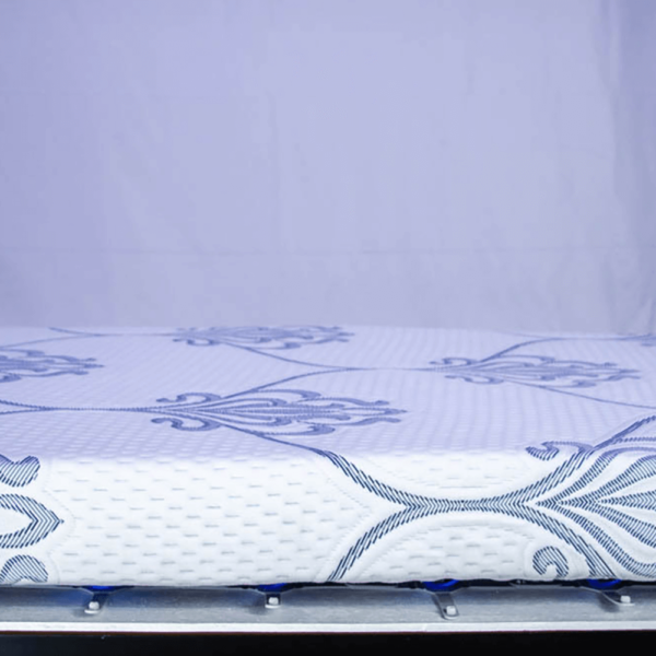 the crossroad froli compatible custom rv mattress showing side of mattress and springs