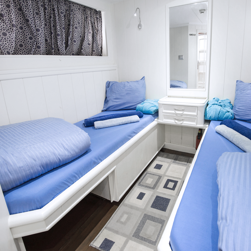 odd sized custom mattresses made to fit in cabin of a boat