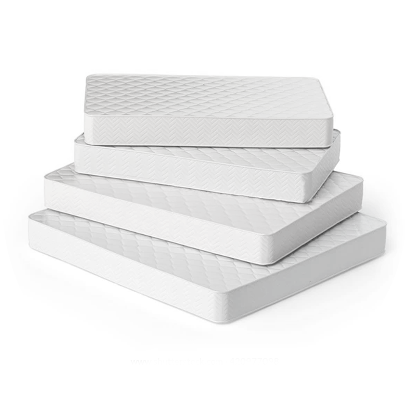 different sized custom mattresses stacked on top of one another
